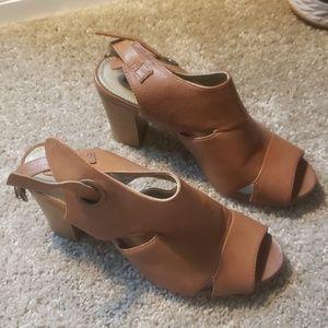 Buckle Block Heel Sandal